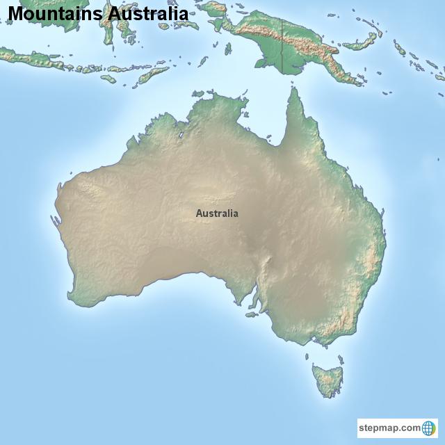 Australia Map Mountains.Stepmap Mountains Australia Landkarte Fur Australia