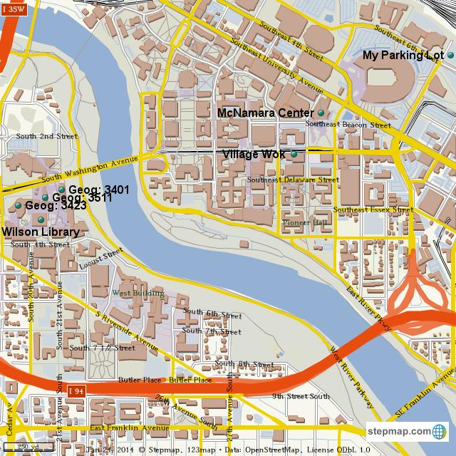 StepMap - My Campus Map - Landkarte für World
