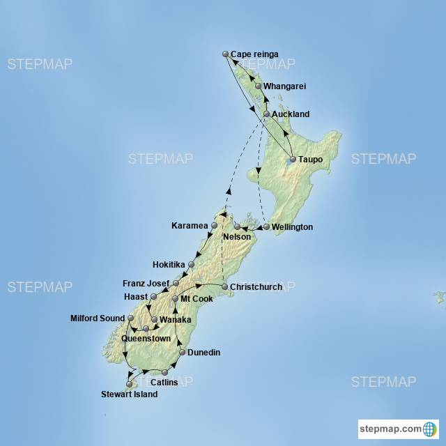 Map: NZ route 2