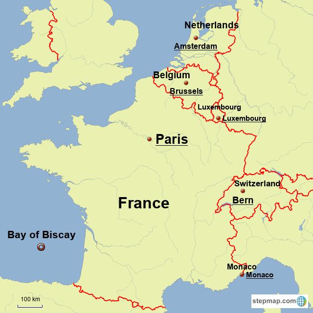 Stepmap Netherlands Belgium Luxembourg France Switzerland