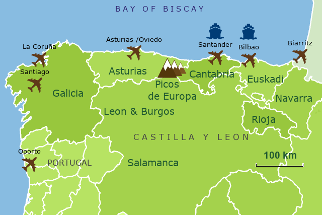 Map Of Spain North.Stepmap North Spain Home Page Map 2x3 Landkarte Fur Spain
