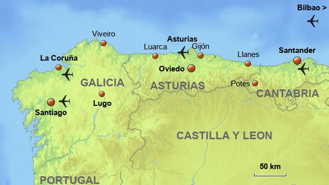 Map Of Spain North.Stepmap North Spain Villas Base Map Landkarte Fur Spain