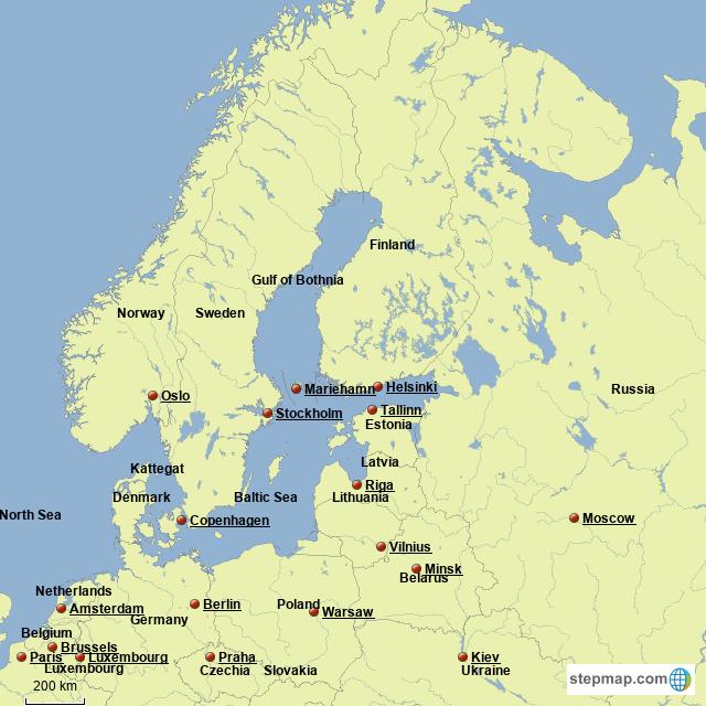 StepMap   Northeastern Europe   Landkarte für Germany