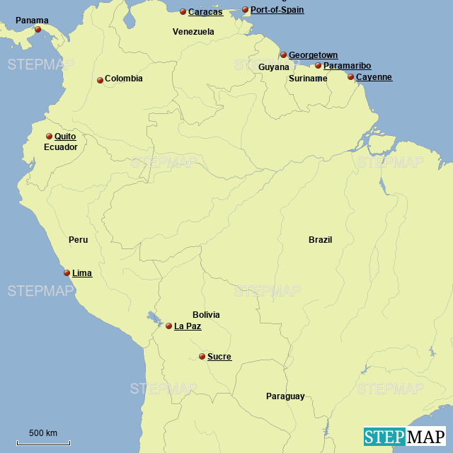 StepMap - Northern South America - Landkarte für Guyana on major rivers in south america, map of northern ca wine country, map of northern east coast usa, map of north america natural resources, topography of northern south america, northern part of south america, map of north america without labels, map of latin america, map of northern lebanon, map of the northern america, political map of america, map of northern fiji, map of northern adriatic, map of northern ukraine, map of eastern north america, map of northern jordan, map of central america, map of northern south carolina, map of northern european rivers, map of northern wisconsin,