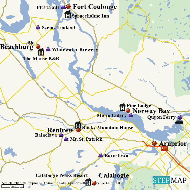 Stepmap Ottawa Valley Loop Landkarte Fur World