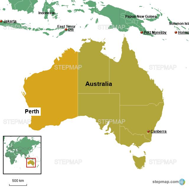 Map Perth Australia.Stepmap Perth General Map Landkarte Fur Australia