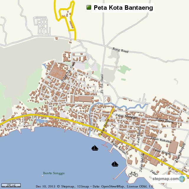 StepMap - Peta Kota Bantaeng - Landkarte für World