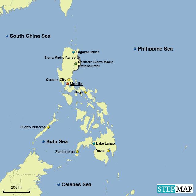 StepMap - Philippine Islands - Landkarte für Germany