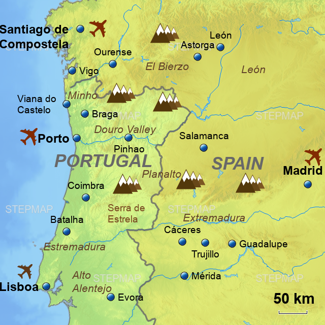 Map Of Portugal And Spain.Spain Portugal Border Map Best Photos Of Border Imagedge Org