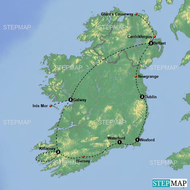 Map Of Ireland Newgrange.Stepmap Rir18 Ireland Landkarte Fur Ireland