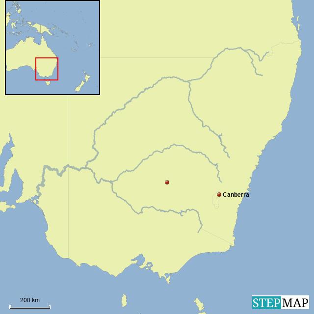 Australia Map Rivers.Stepmap Rivers Landkarte Fur Australia