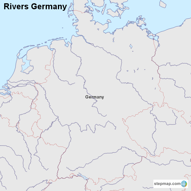Stepmap Rivers Germany Landkarte Fur Germany