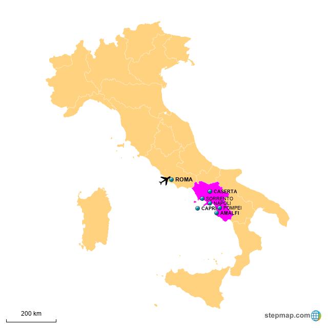 StepMap - SLOW FOOD AMALFI COAST - Landkarte für Italy on genoa map, cagliari map, venice map, lake como map, salerno map, croatia map, spain map, cinque terre map, greece map, sorrento map, france map, umbria map, sicily map, capri map, europe map, italy map, positano map, naples map, tuscany map, turin map,