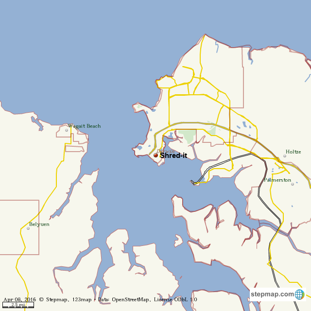 StepMap - Shred-it - Landkarte für World