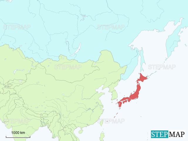 Asia Map Siberia.Stepmap Siberia Japan Landkarte Fur Asia