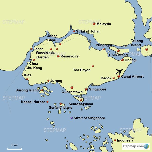 Asia Map Singapore.Stepmap Singapore Asia Landkarte Fur Germany