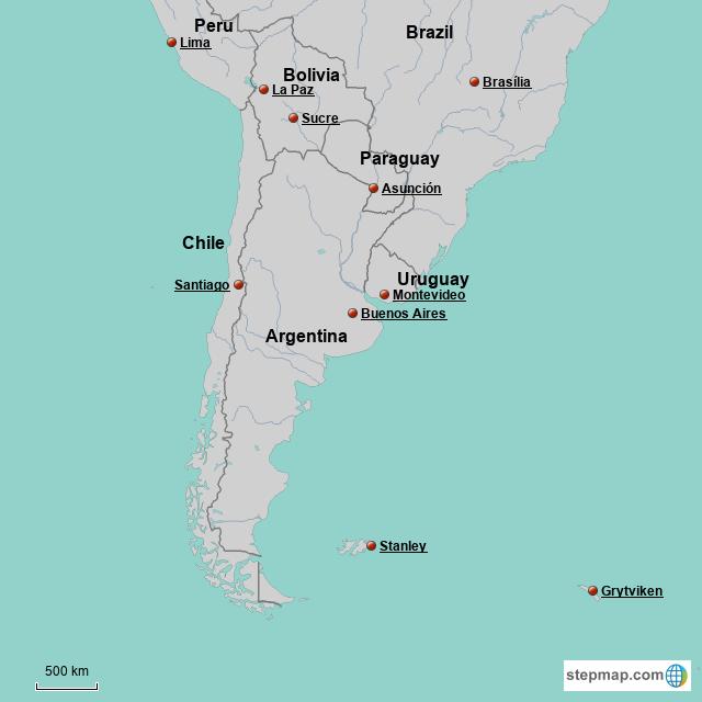 StepMap - Southern South America - Landkarte für South America on map of southern uk, map of southern grenada, map of southern zambia, map of southern east coast, paraguay map south america, map of southern ethiopia, temples in south america, ancient temples south america, map of southern us beaches, southern cone of latin america, map of africa, the southern region of america, map of central andes, map of southern cambodia, road map south america, map of southern singapore, map of southern mediterranean countries, map of southern us states, map of southern continent, map of central america,