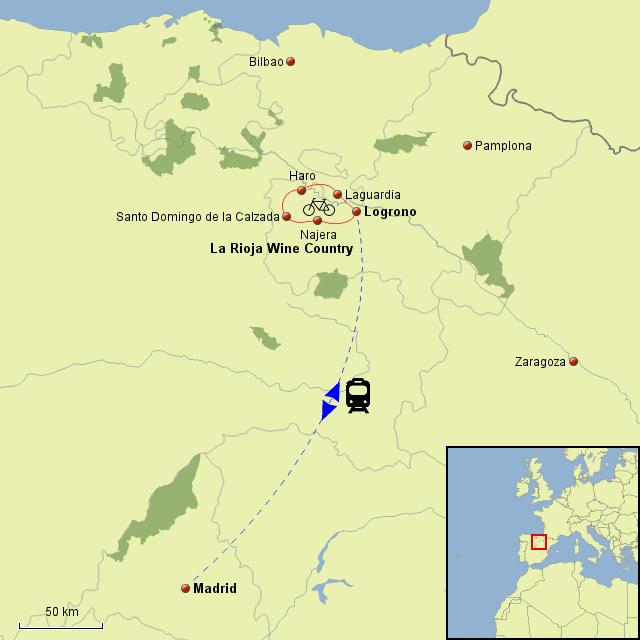 Map Of Spain Rioja.Stepmap Spain Rioja Landkarte Fur Spain
