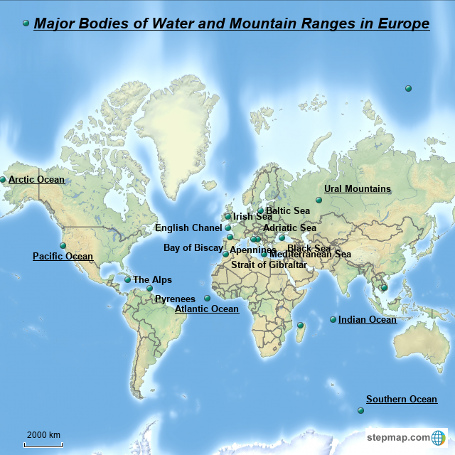 StepMap - Step Map water and mountains - Landkarte für Great ...