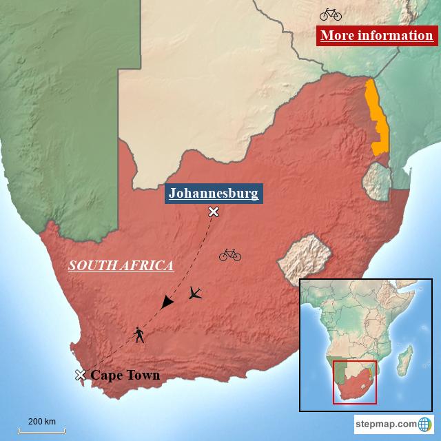 StepMap - Test Map South Africa 2 - Landkarte für Africa