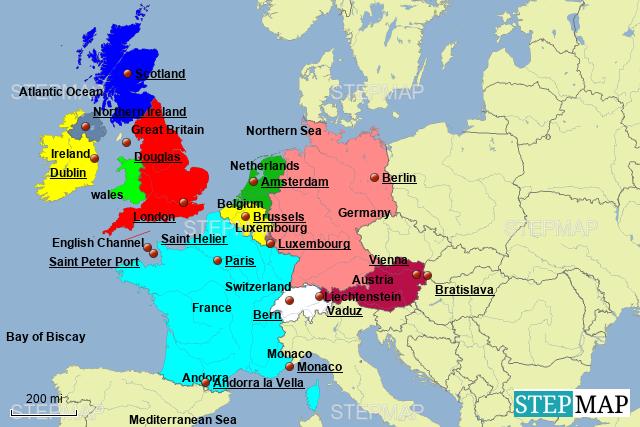Stepmap The British Isles Western Europe Landkarte Fur Germany