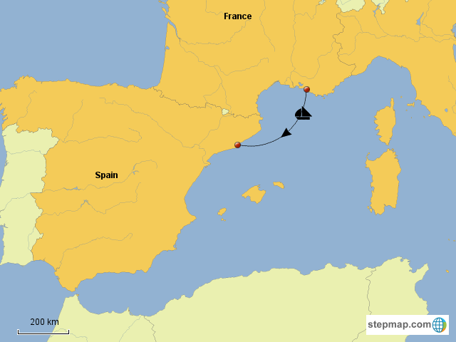 Stepmap To Barcelona Landkarte Fur Europe