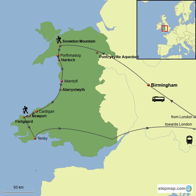 Map Of England 2015.Stepmap Trip To Wales England 2015 Landkarte Fur Great Britain