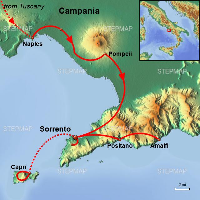 Stepmap Tuscany And Amalfi Culinary Tour Amalfi Coast