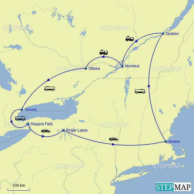 Stepmap Usa And Canada Landkarte Fur Canada