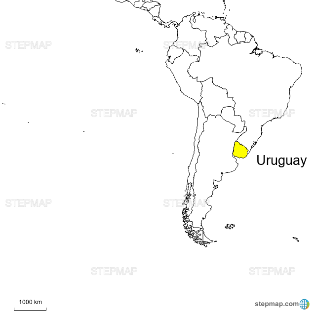 uruguay landkarte StepMap   Uruguay   Landkarte für Uruguay uruguay landkarte