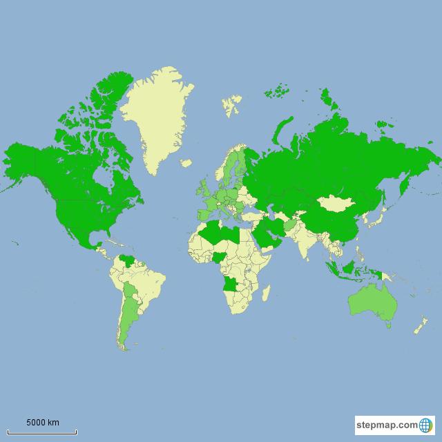 StepMap - VerdisFuels countries with top 20 flaring - Landkarte für