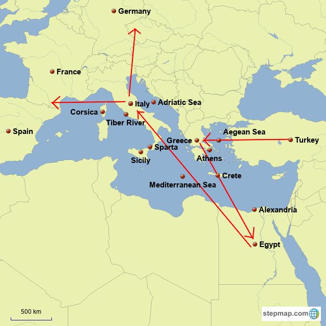 Stepmap Wine In Greece And Rome Landkarte Fur Germany