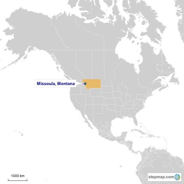 StepMap - World Map USA - Landkarte für World