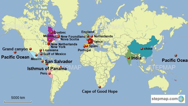 Montreal World Map | www.genialfoto.com