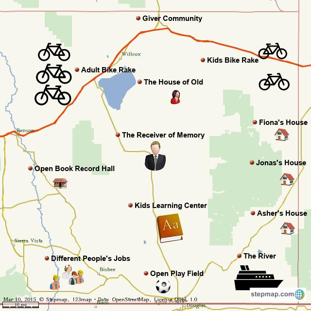 StepMap - giver community - Landkarte für World on