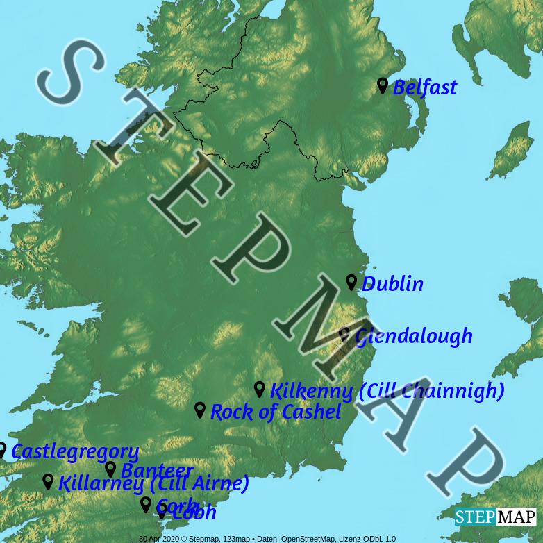 Map: Ireland 2018