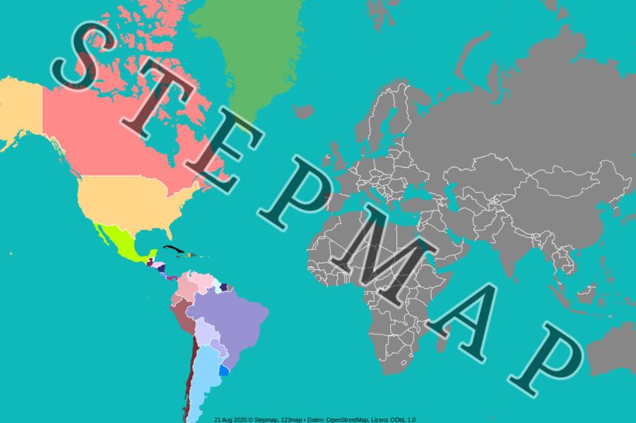 Map: Mapa América