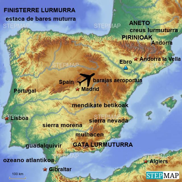 Estaca De Bares Mapa.Stepmap Mapa Ioritz Landkarte Fur Spain