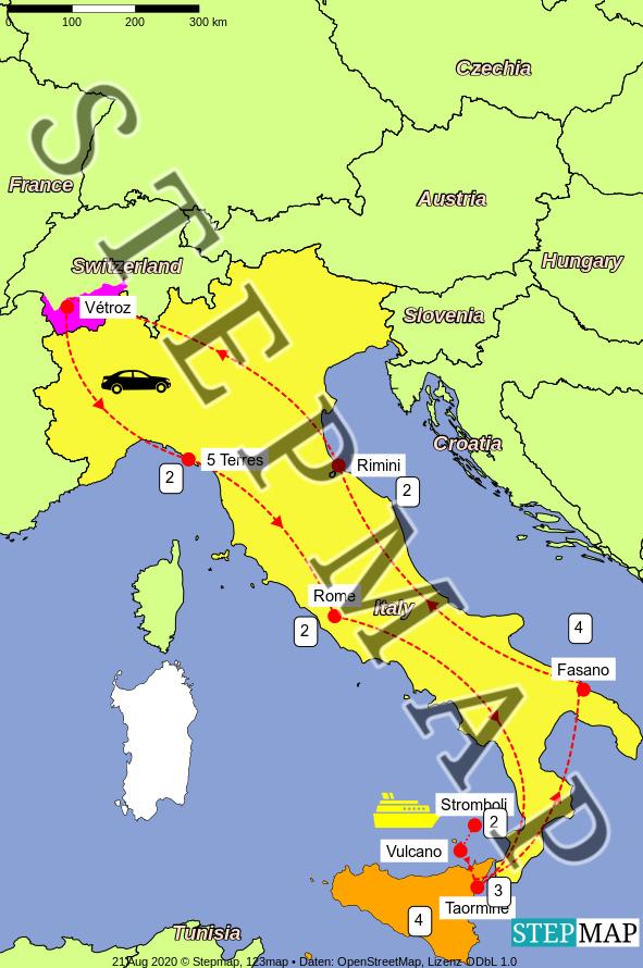 Map: Sicile 2021