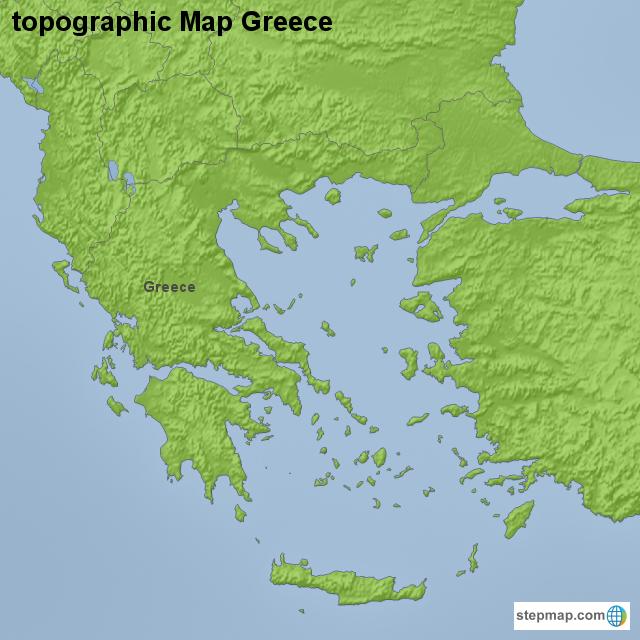 Stepmap Topographic Map Greece Landkarte Fur Greece