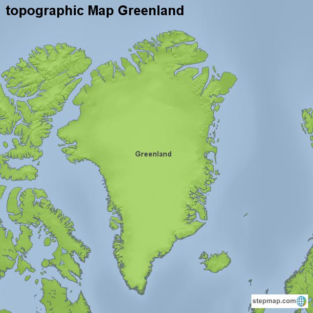 StepMap - topographic Map Greenland - Landkarte für Greenland