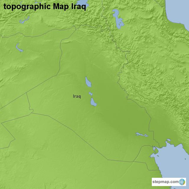 Stepmap Topographic Map Iraq Landkarte Fur Iraq