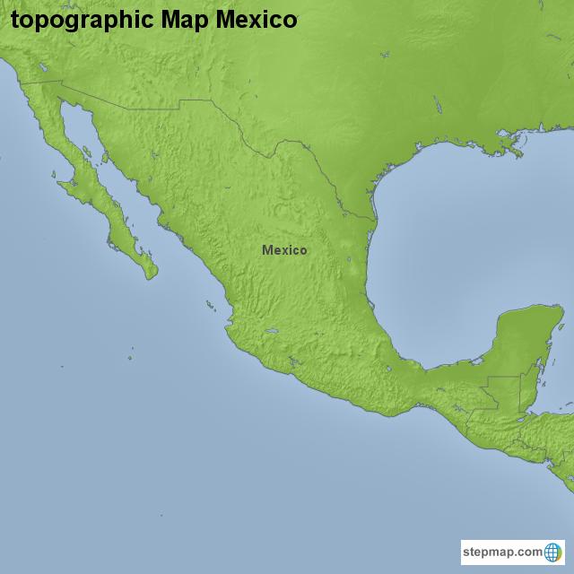 StepMap - topographic Map Mexico - Landkarte für Mexico