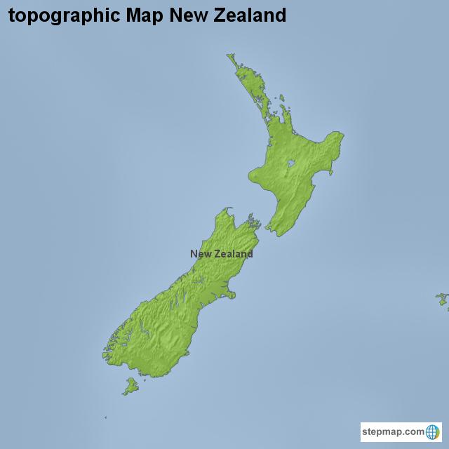New Zealand Topographic Map.Stepmap Topographic Map New Zealand Landkarte Fur New Zealand