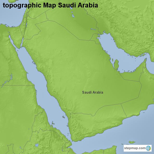 Topographic Map Of Saudi Arabia.Stepmap Topographic Map Saudi Arabia Landkarte Fur Saudi Arabia
